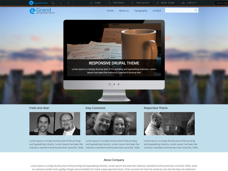 Grand Free Drupal Business Theme