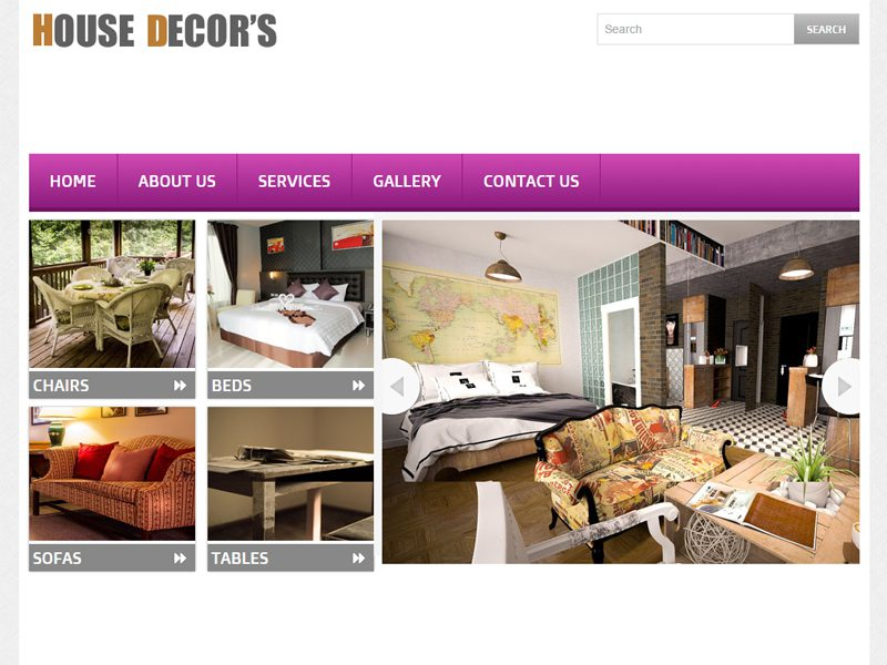 House Decors Free Bootstrap Template For Interior
