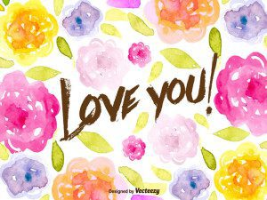 Romantic Watercolored Floral Free Vector