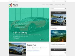Mauris Free Wordpress Theme For Blog