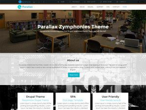 Parallax Free Drupal Theme For Corporate