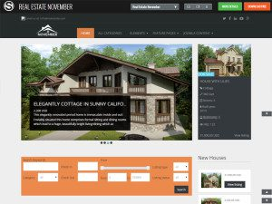 Real Estate November Free Joomla Template For Furniture