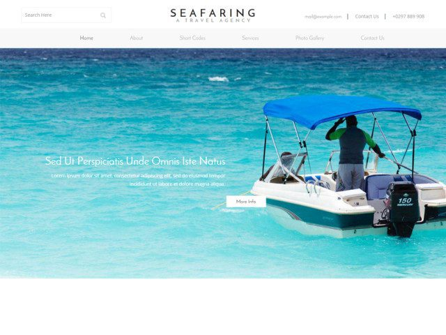 Seafaring Free Bootstrap Template For Transportation