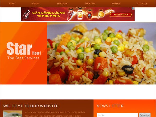 Star Hotel Free Bootstrap Template For Restaurant