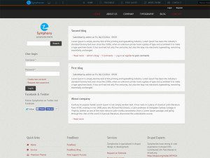 Symphony Free Drupal Theme For Business