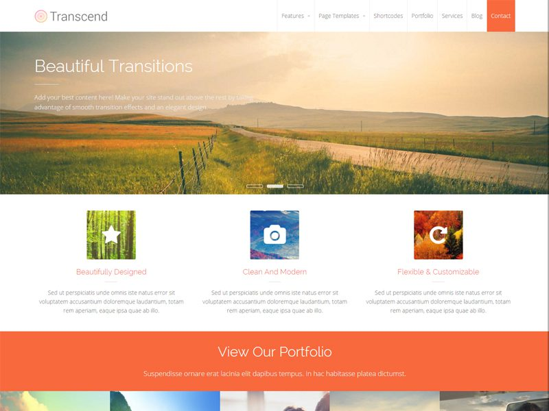 Transcend Free Business Wordpress Theme - Freemium Download
