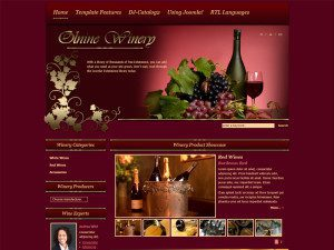 DJ Winery Free Joomla Template For Winery