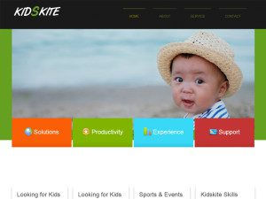 Kids Kite Free Bootstrap Template For School