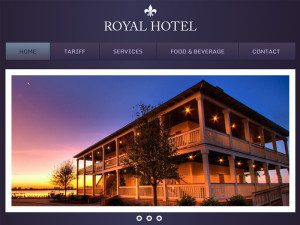 Hotel Royal Free Bootstrap Template For Hotel