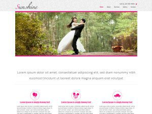 Sunshine Free Bootstrap Template For Wedding