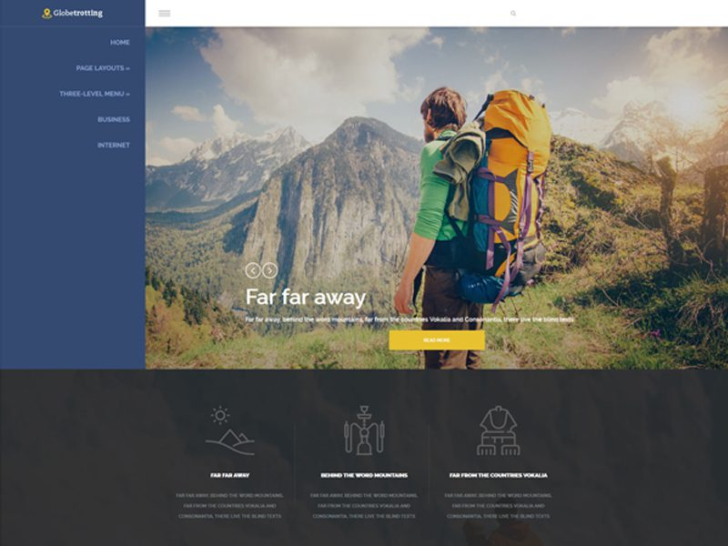 GlobeTrotting Free Wordpress Theme For Travel