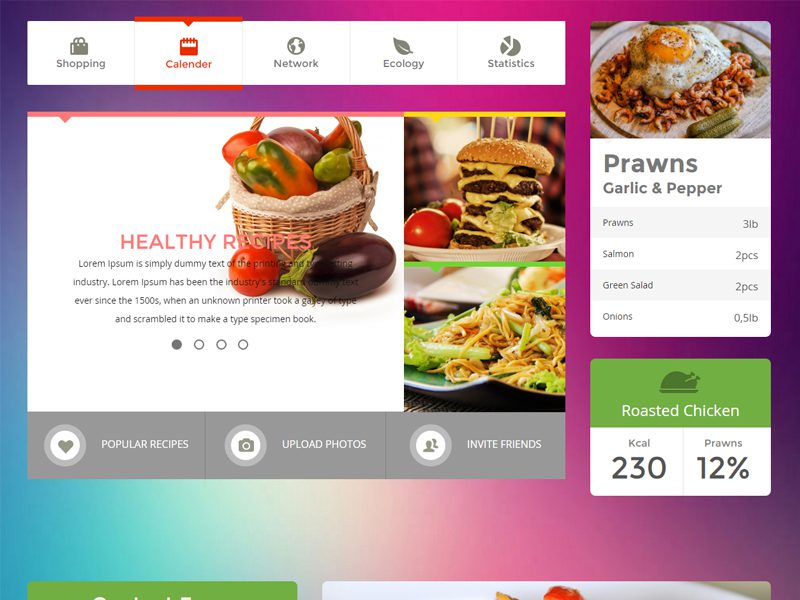 Metro food ui kit free bootstrap template for food for Application creation cuisine