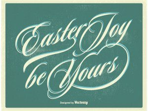 Typographic Easter Poster Free Vector