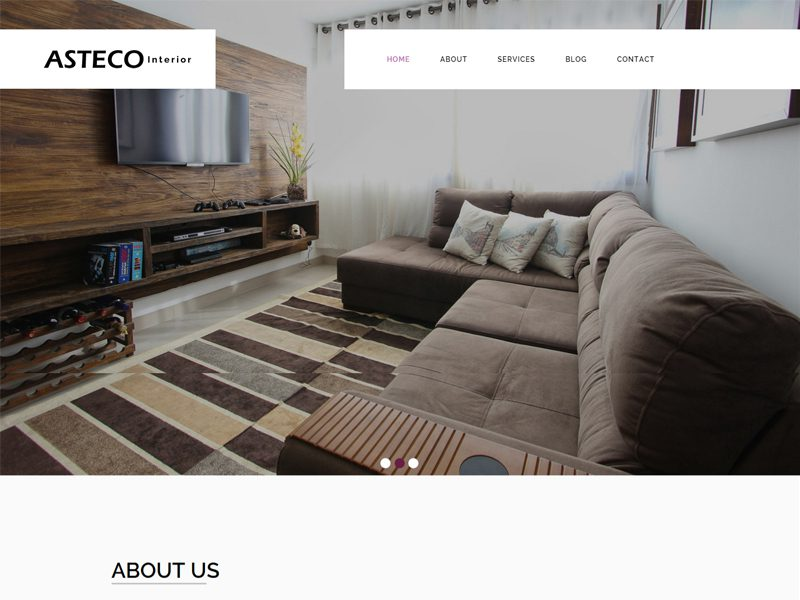 Asteco Free Bootstrap Template For Interior