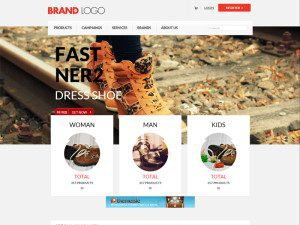 Brand Logo Free Bootstrap Template For ECommerce