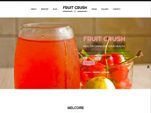 Fruit Crush Free Bootstrap Template For Website