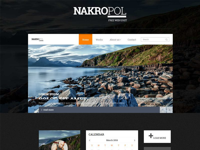 Nakropol Ui Kit Free Bootstrap Template For Website Freemium Download