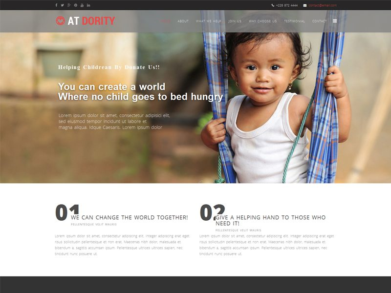 AT Dority Onepage Responsive Non-Profit Joomla Template