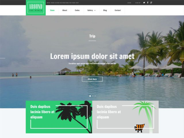 Around Free Responsive Bootstrap Travel Template