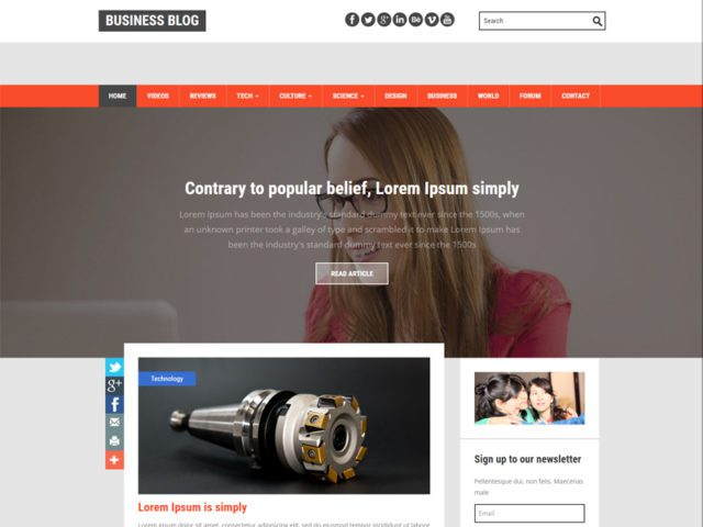 Business Blog Free Bootstrap Template For Blog
