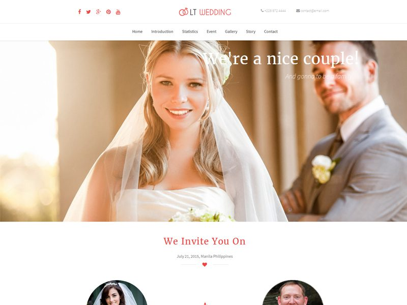 Lt Wedding Onepage Free Wordpress Theme For Wedding Planner