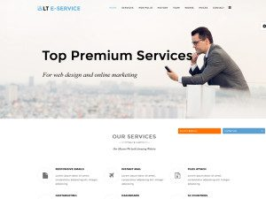 LT eService Onepage Free Joomla Template For Online Service