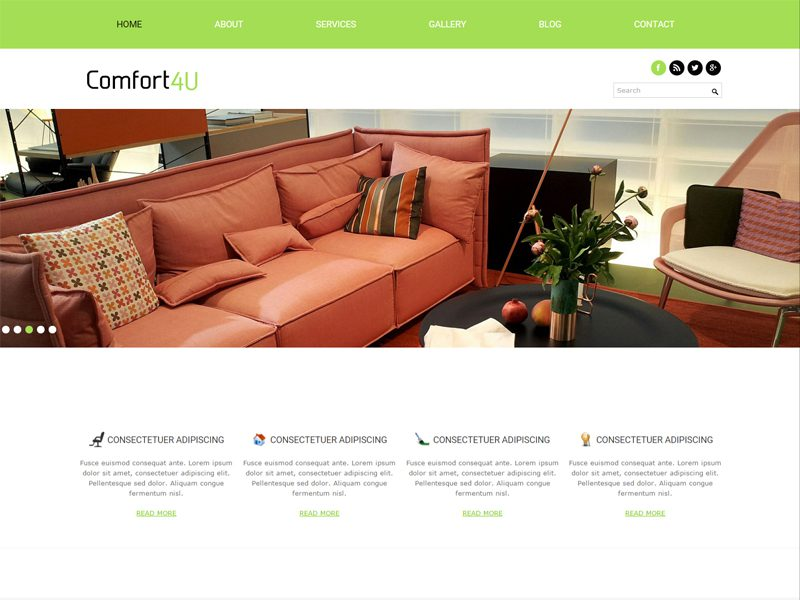 Comfort Free Interior Bootstrap Template