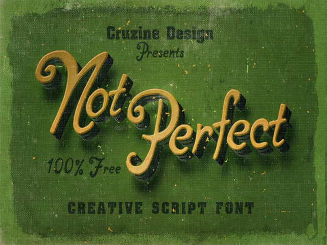 Not Perfect Free Handwritten Font