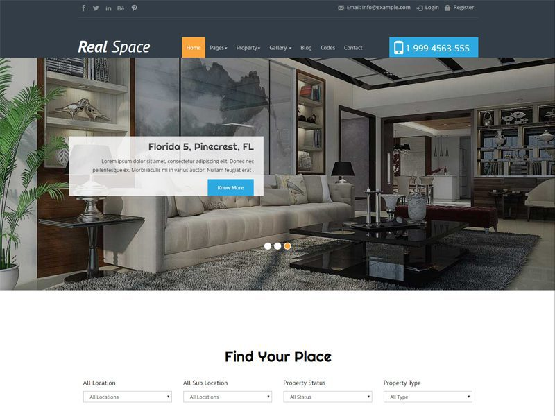 Real Space Responsive Real Estate Bootstrap Template Freemium Download