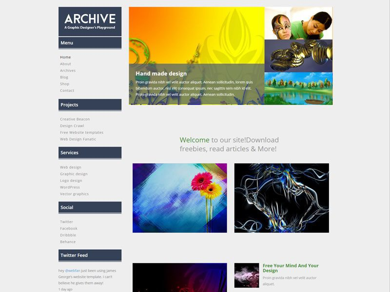 Archive Free Responsive Bootstrap Blog Template - Freemium