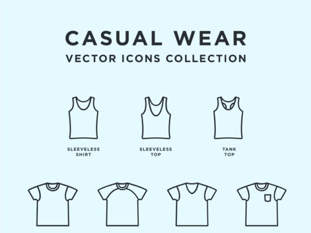 Casual Wear Free Vector Icons