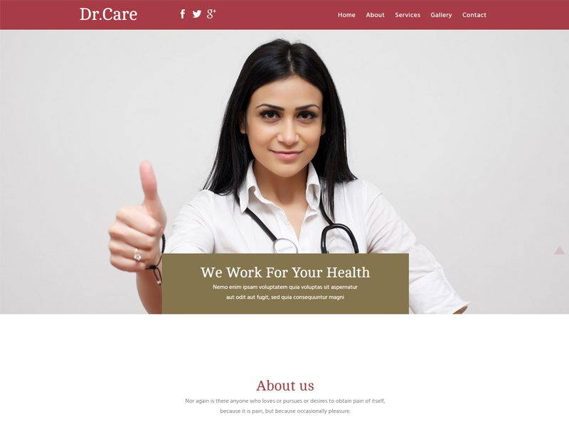 Dr Care Free Bootstrap Template For Hospitals