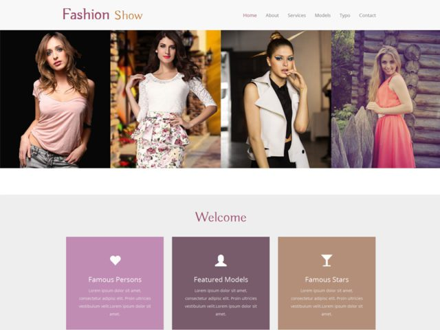 Fashion Show Free Bootstrap Template For Fashion