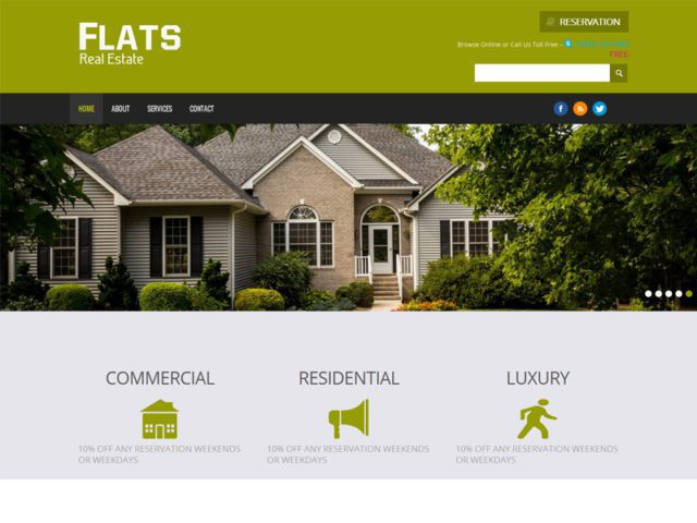 Flats Free Responsive Real Estate Bootstrap Template
