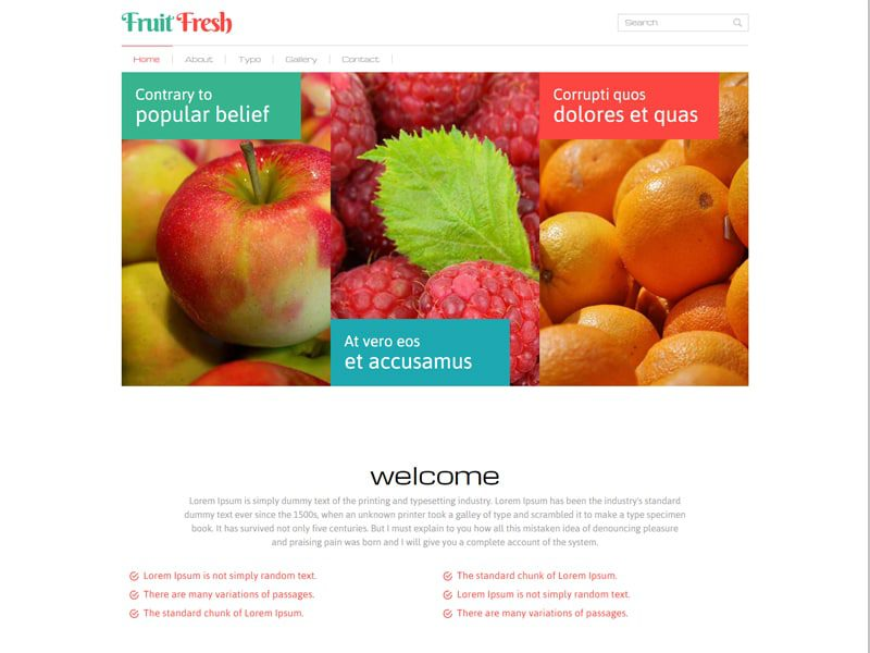Fruit Fresh Free Bootstrap Template For Agriculture Business