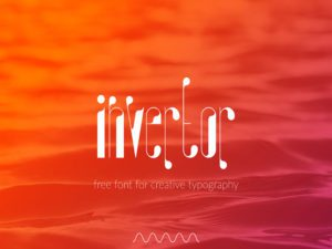 Invertor Free Font Design