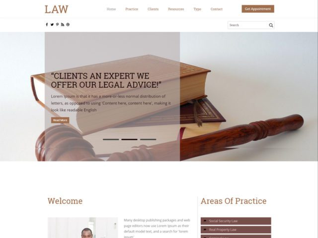 Law Free Responsive Lawyers Bootstrap Template