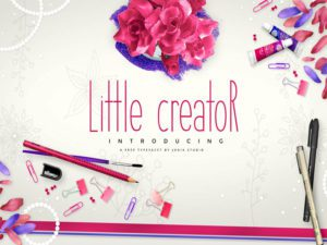 Little Creator Free Font Design