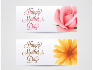 Free Mother's Day Banners Vector