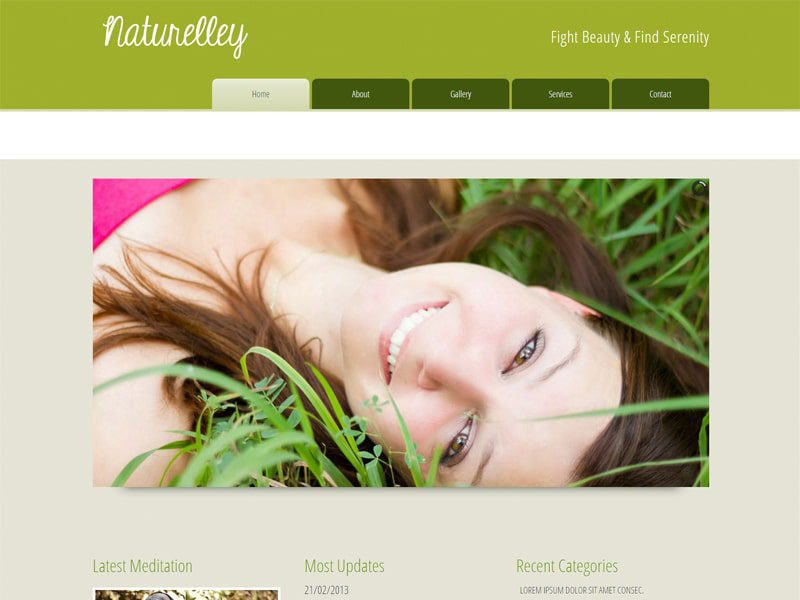 Naturelley Free Bootstrap Template For Beauty