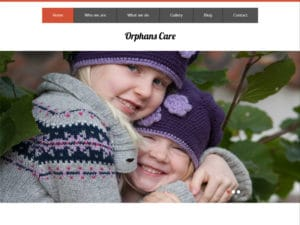 Orphans Care Free Bootstrap Template For Orphans