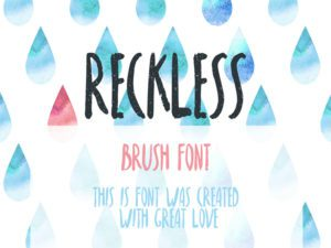 Reckless Free Font Design