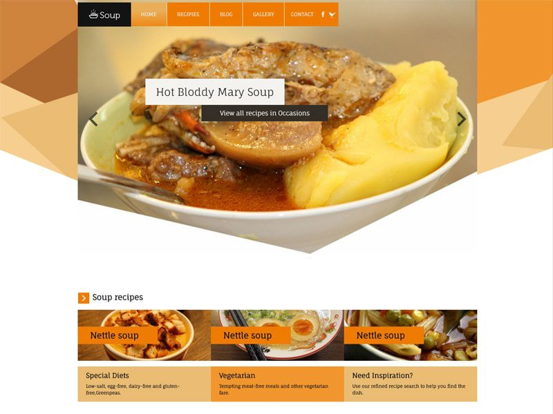 Soup Free Bootstrap Restaurant Bootstrap Template - Freemium Download