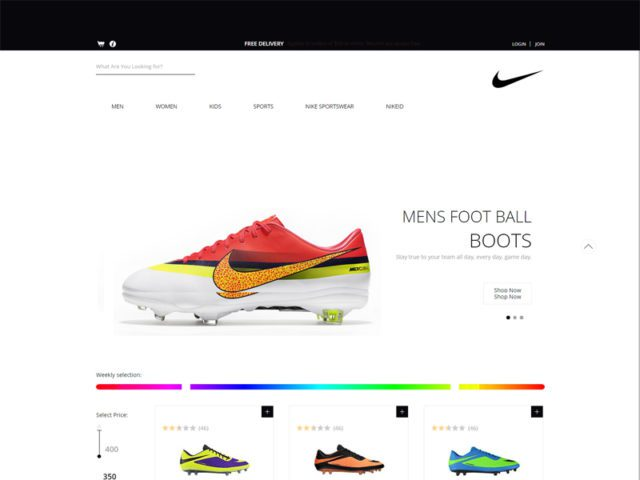 Spike Shoes Free Bootstrap Template For eCommerce