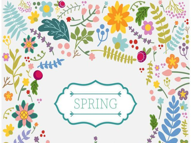 Spring Floral Free Vector Background
