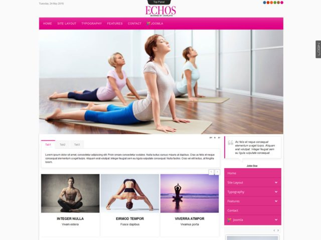 Td Echos Free Joomla Template For Health