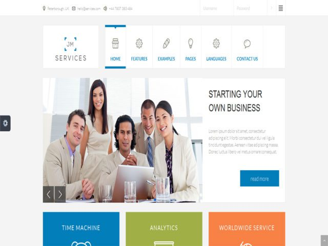 JM Services Free Responsive Business Joomla Template