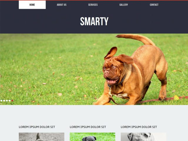 Smarty Free Responsive Animal Bootstrap Template