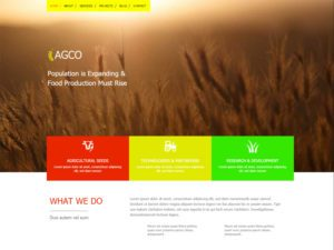 Agco Free Responsive Agriculture Bootstrap Template