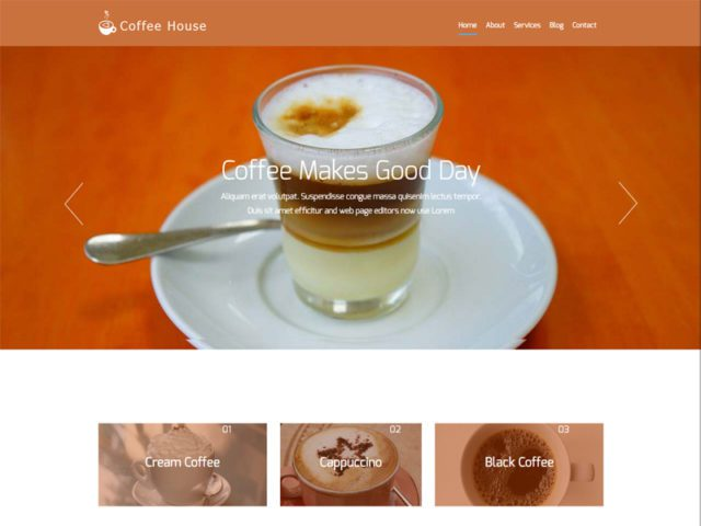 Coffee House Free Bootstrap Template For Restaurant